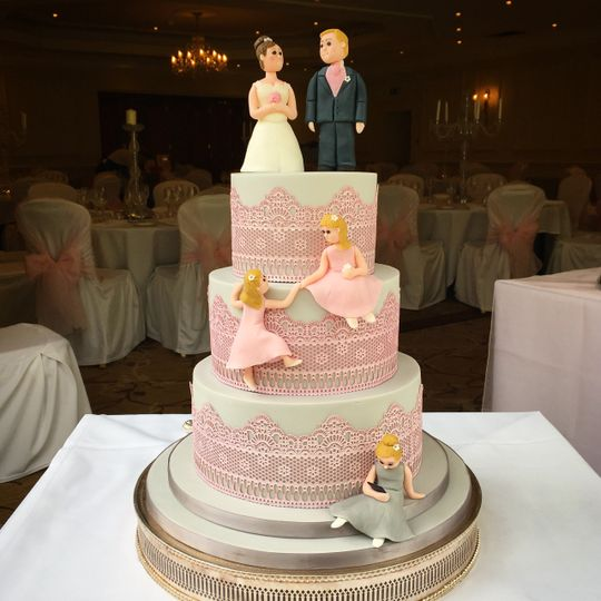 With personalised toppers