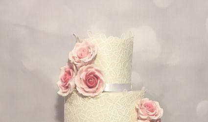 White Rose Wedding Cakes 1