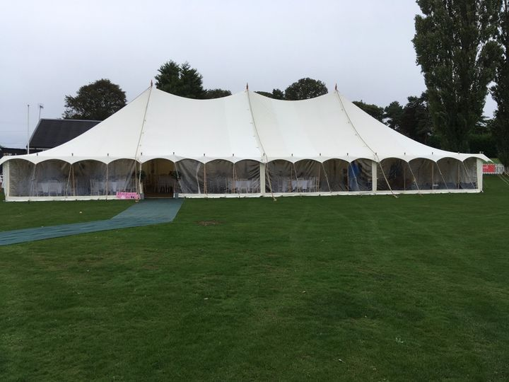 12m marquee with panoramic win