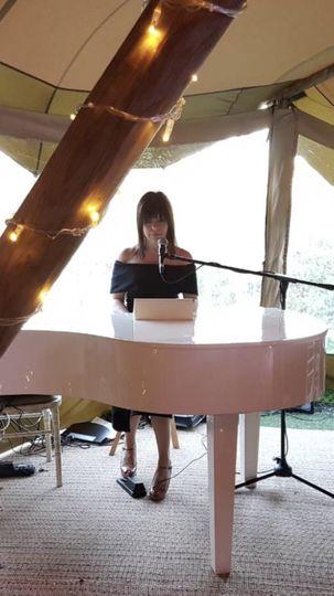 Victoria in a wedding