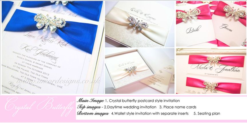 Butterfly wedding stationery