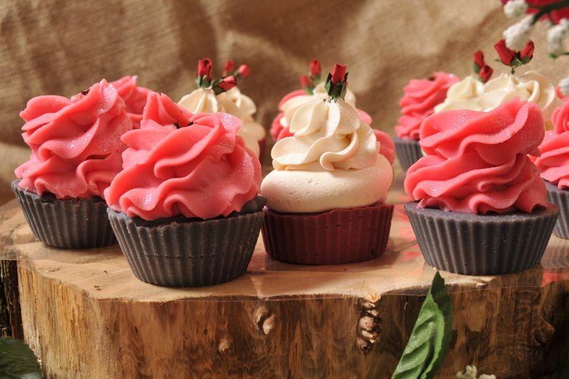 Cupcake soap favours