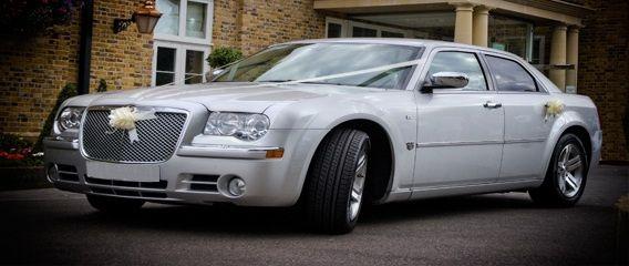 Sikver Chrysler wedding cars