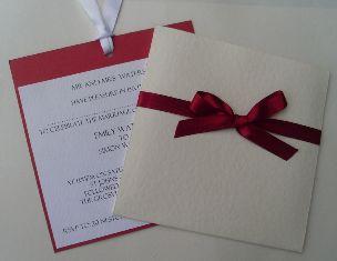 Scarlet Pocket Invitation