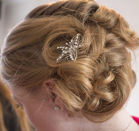 Beautiful bridesmaids hair