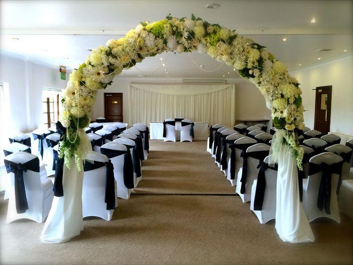 Beautiful wedding arch