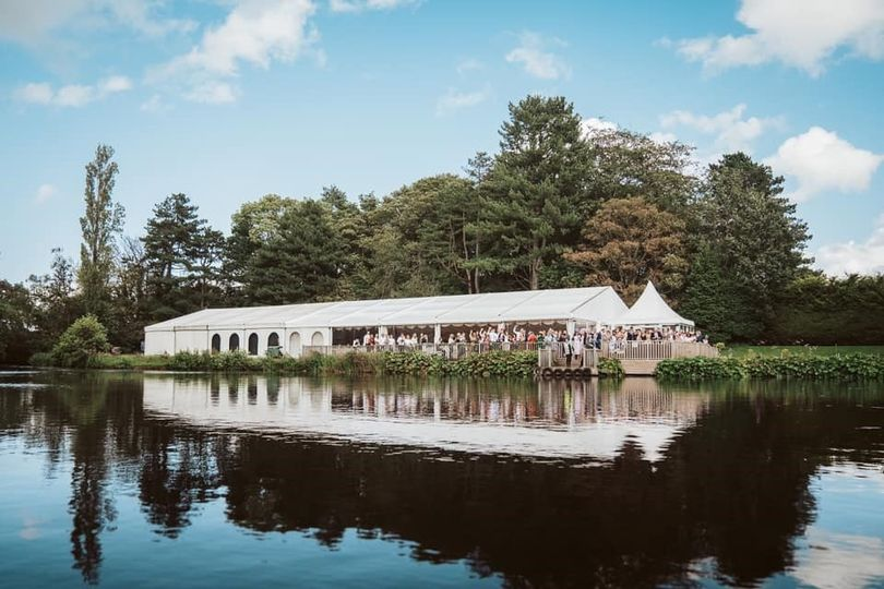 Lakeside Marquee - Photographed by Capture My Big Day