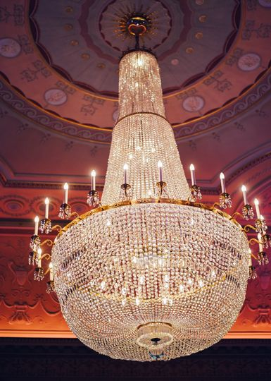 One of three beautiful Chandeliers in the Great Hall
