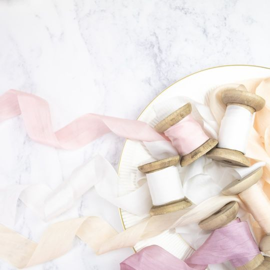 Spools of ribbon