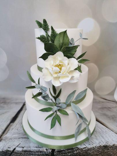 Wedding cake with rose detailing
