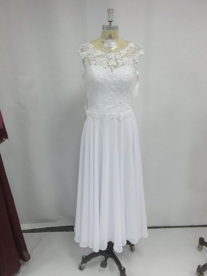 White a-line gown