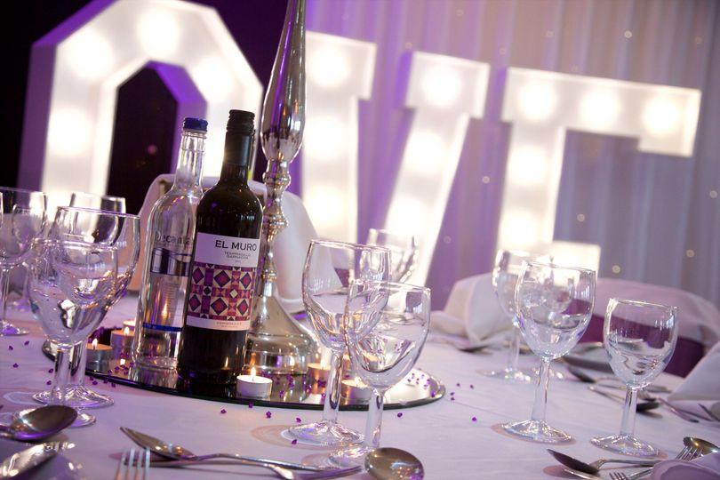 our wonderful wedding table set