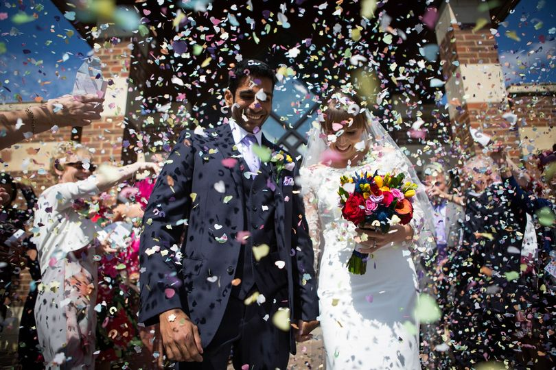 Joy for the newlyweds - Martin Price Photography