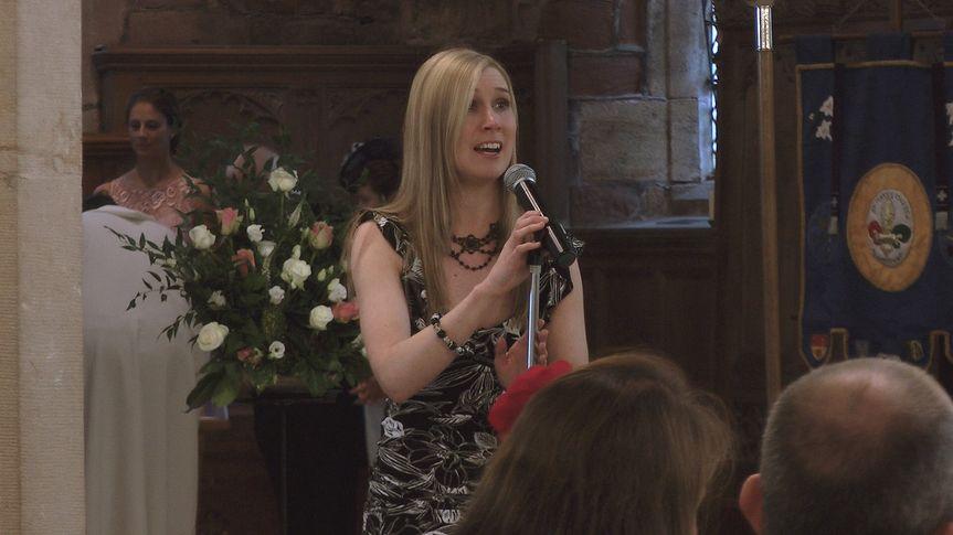 Church ceremony singer