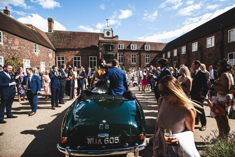 Celebrations - Bridal car enters the courtyard