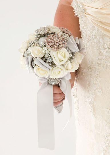 White posy bouquet