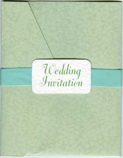 Envelope style invitations