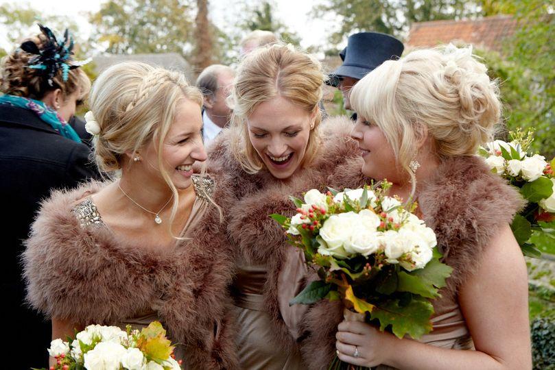 Bridesmaids make up and hair