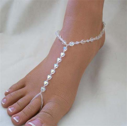 Heart Beaed Barefoot Jewellery