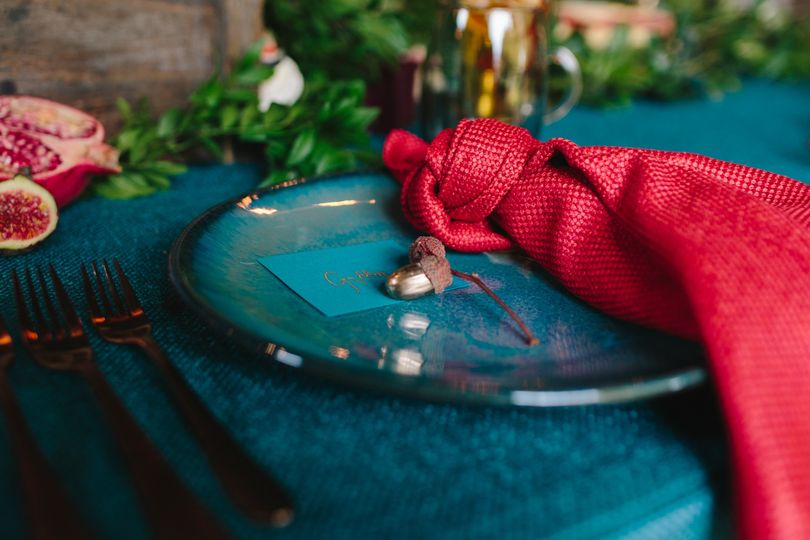 Coloured Plates and Linens