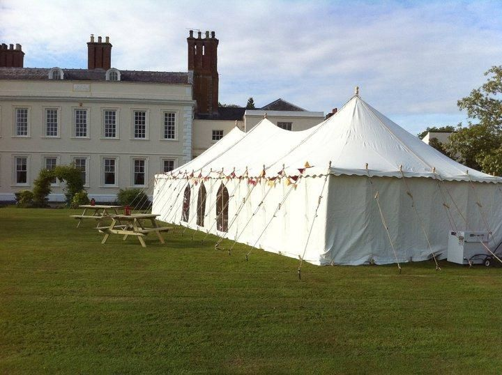 Marquee by a manor house