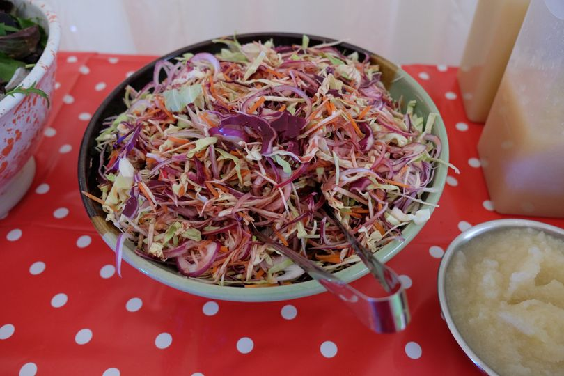 Slaw with a raspberry dressing