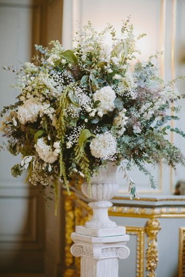 White and green arrangement