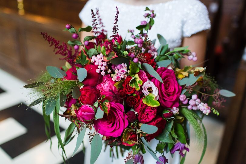 Vibrant and wild floral arrangement