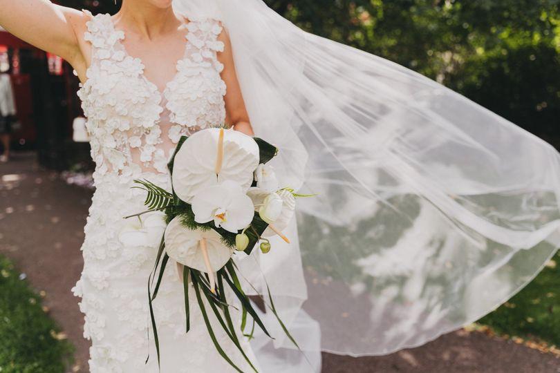 White Anthurium Bridal Posey