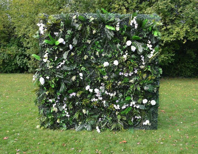 Greenery flower wall