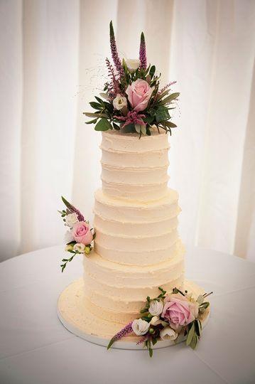 Floral three-tier cake