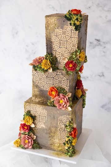 Modern Square Buttercream Cake