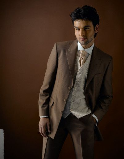 Light Brown Semi fitted suit