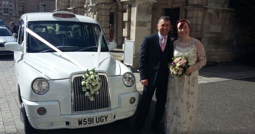 White wedding cabs 5