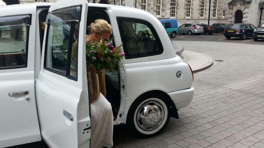 White wedding cabs 6