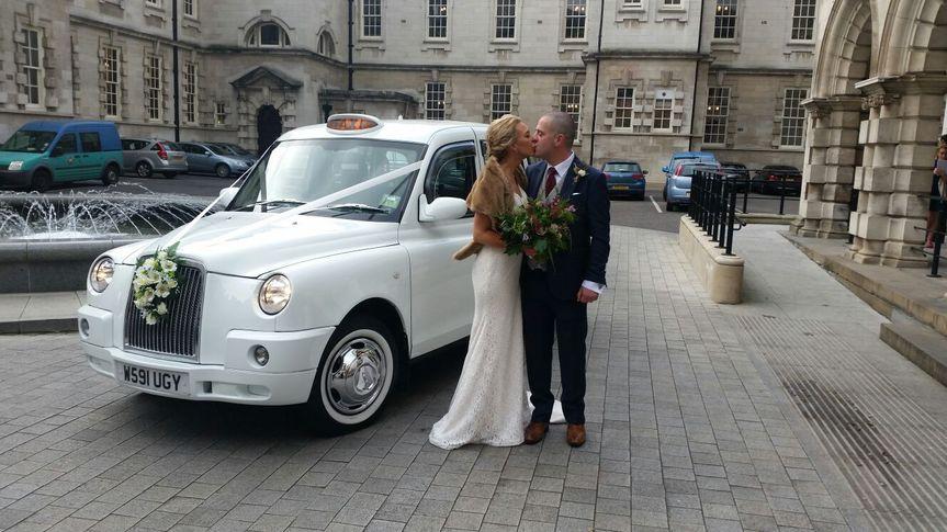 White wedding cabs 7