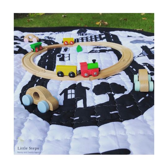 Wooden cars and trains