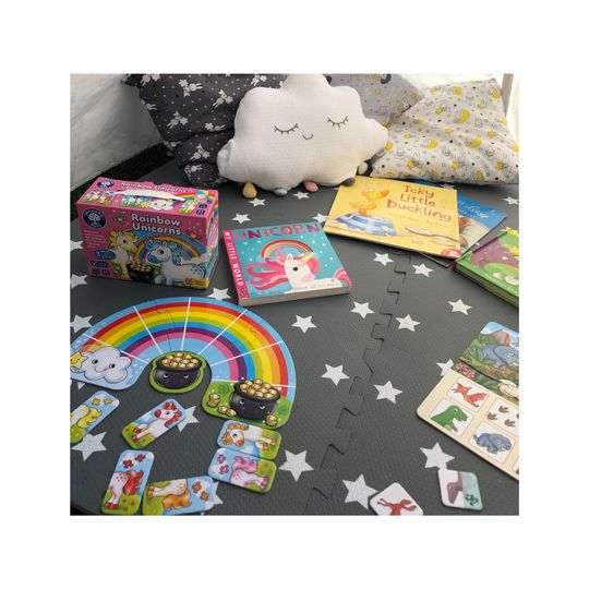 Games, arts and crafts, sensory toys