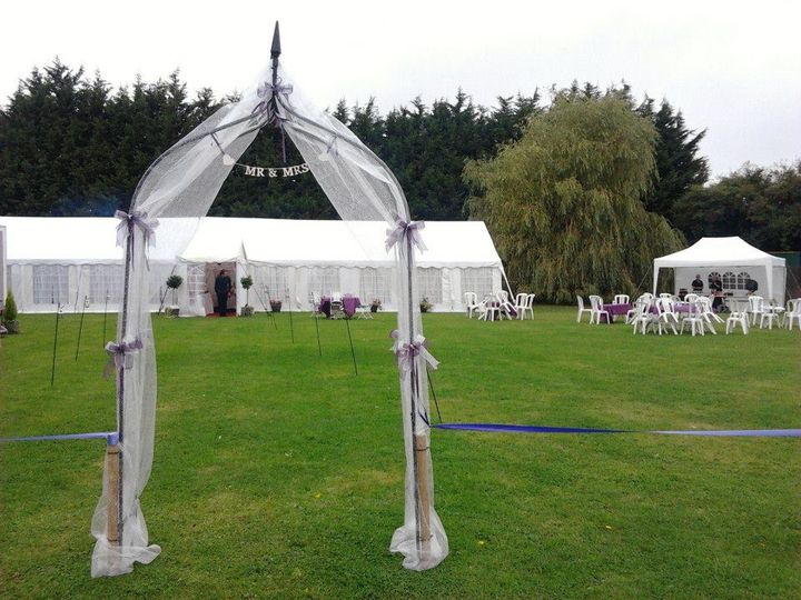 Marquees from 3m to 50m long