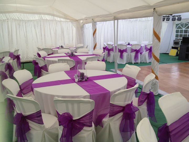 Marquee Wedding Decor