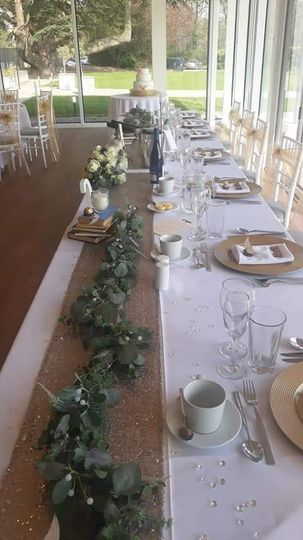 Sparkly top table