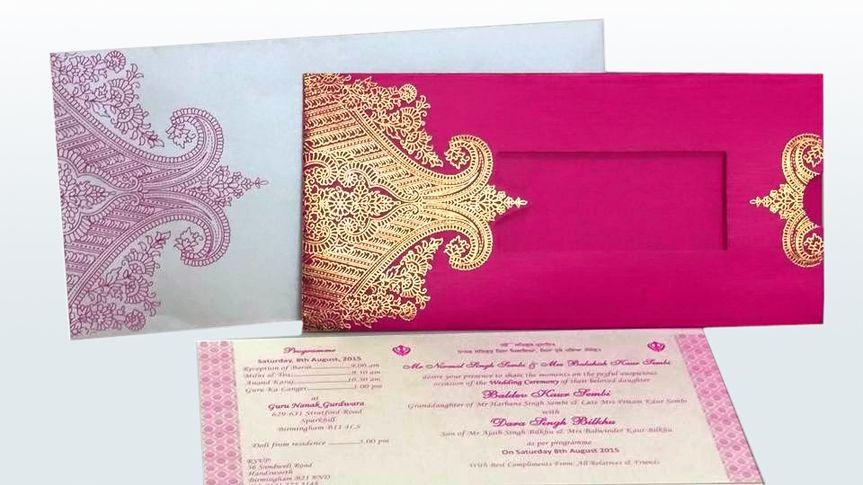 Pre made wedding cards