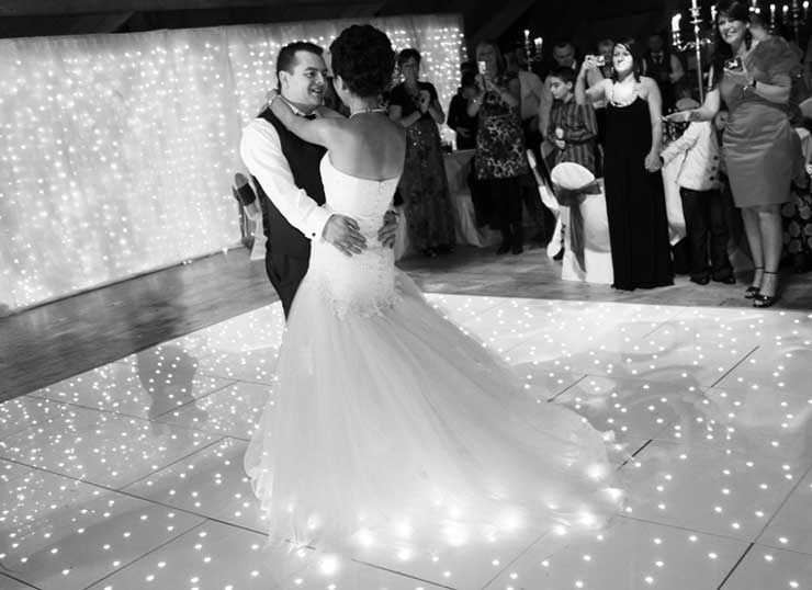 White Starlit LED Dancefloor