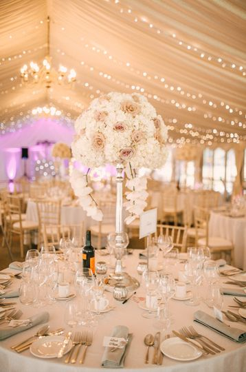 Inside the elegant Pavilion Marquee