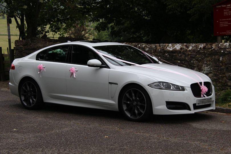 White Jaguar XFS