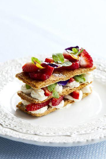 Rhubarb & Custard Dessert