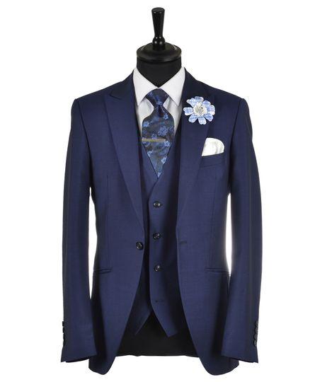 French Navy Carlton Slim Suit