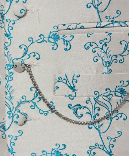 Peacock Blue Vine Waistcoat