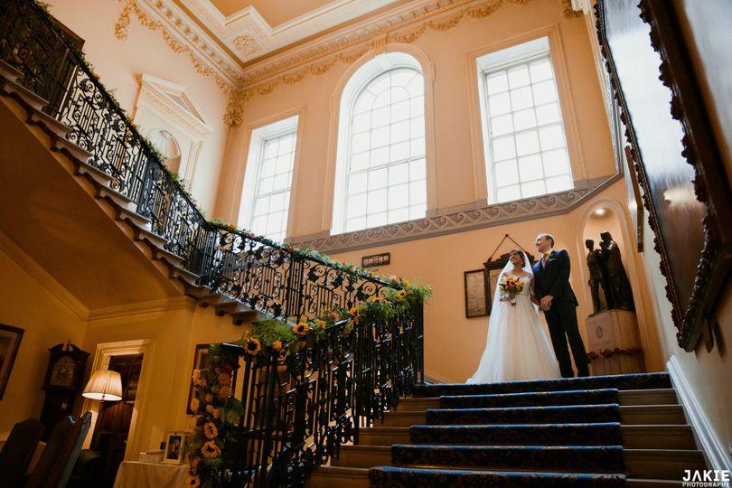 An elegant staircase