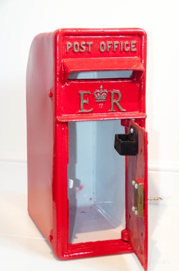 Traditional red post box
